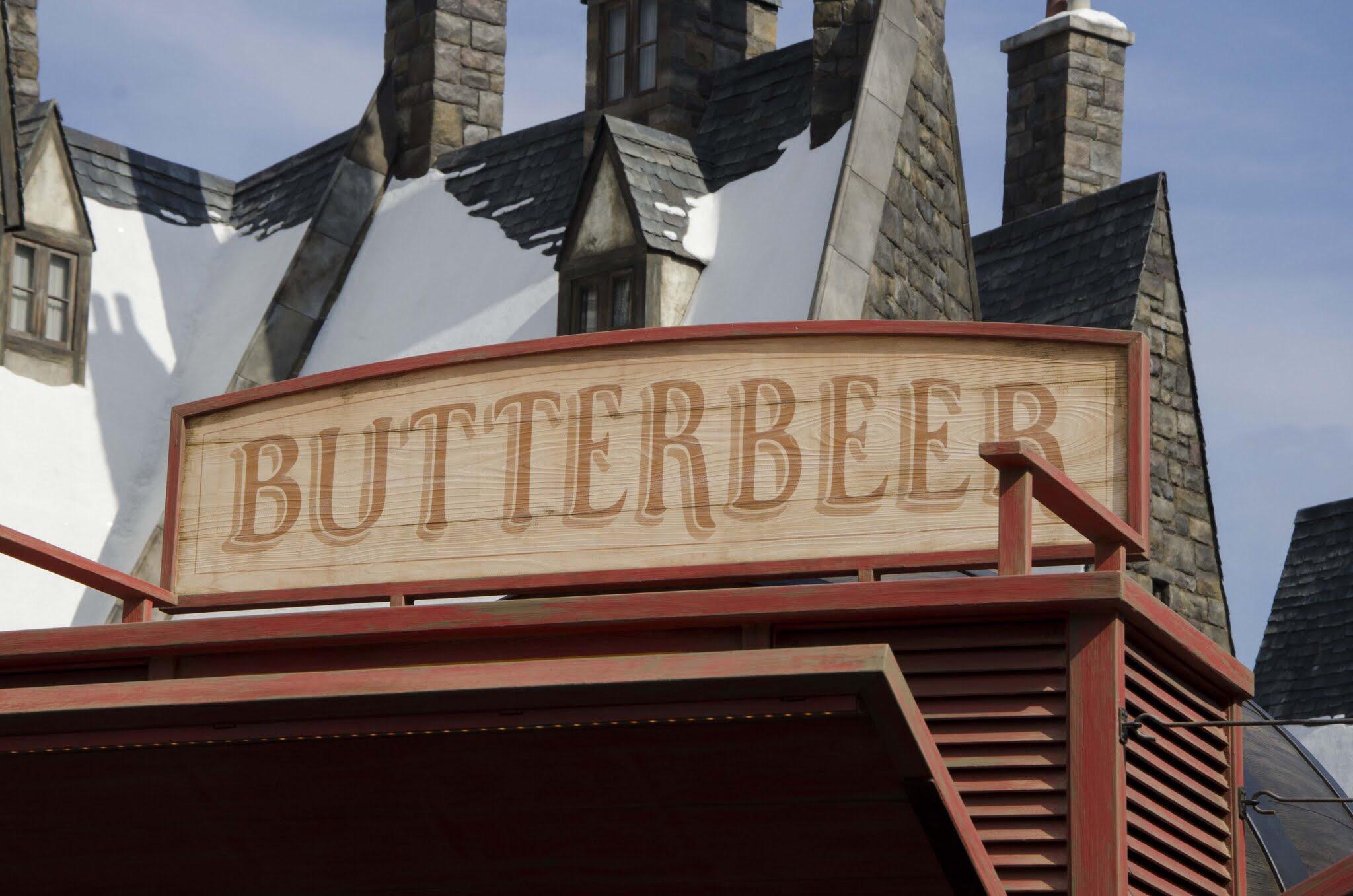 バタービールの店看板
