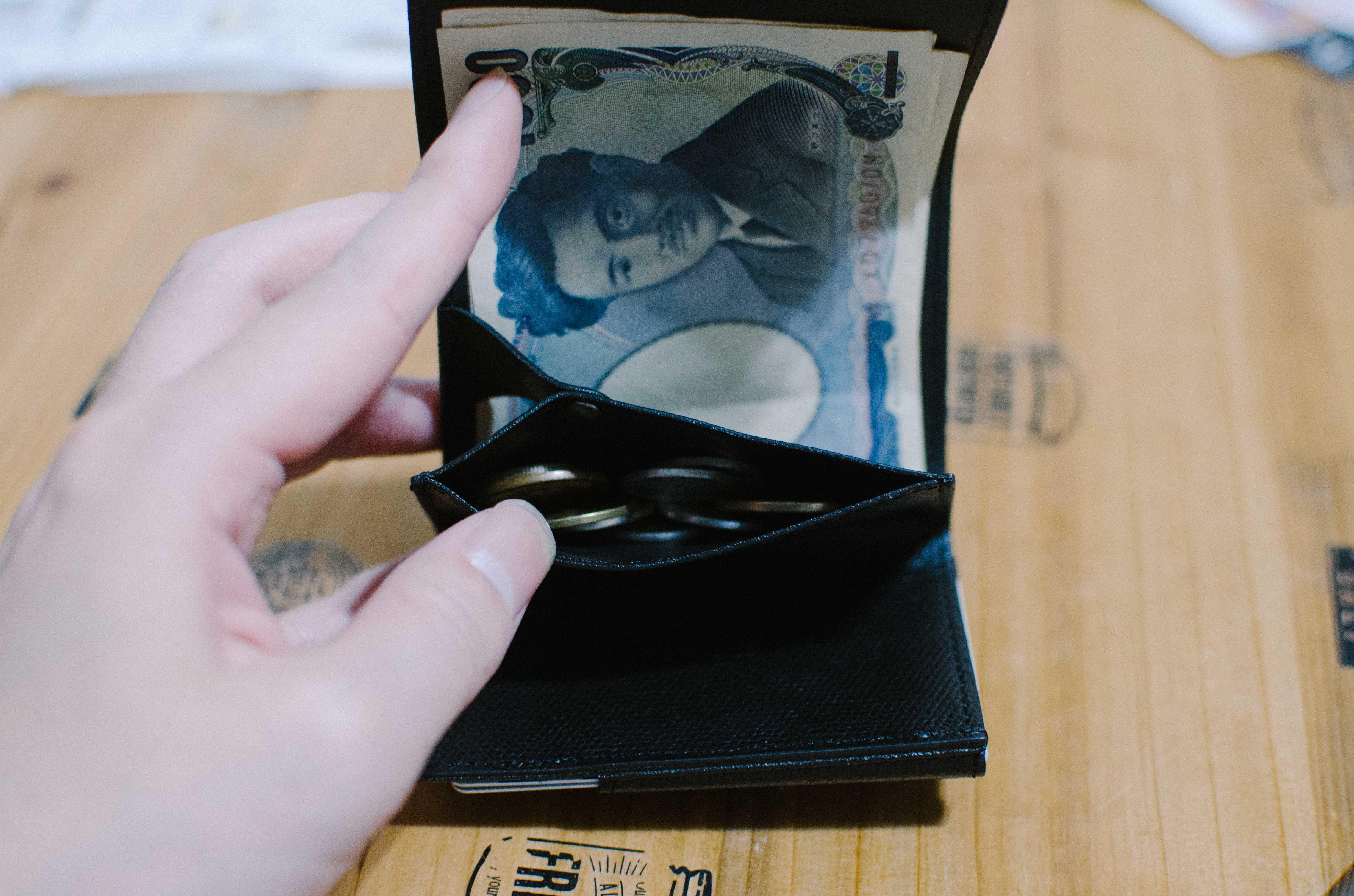 アブラサス小さい財布小銭入れ