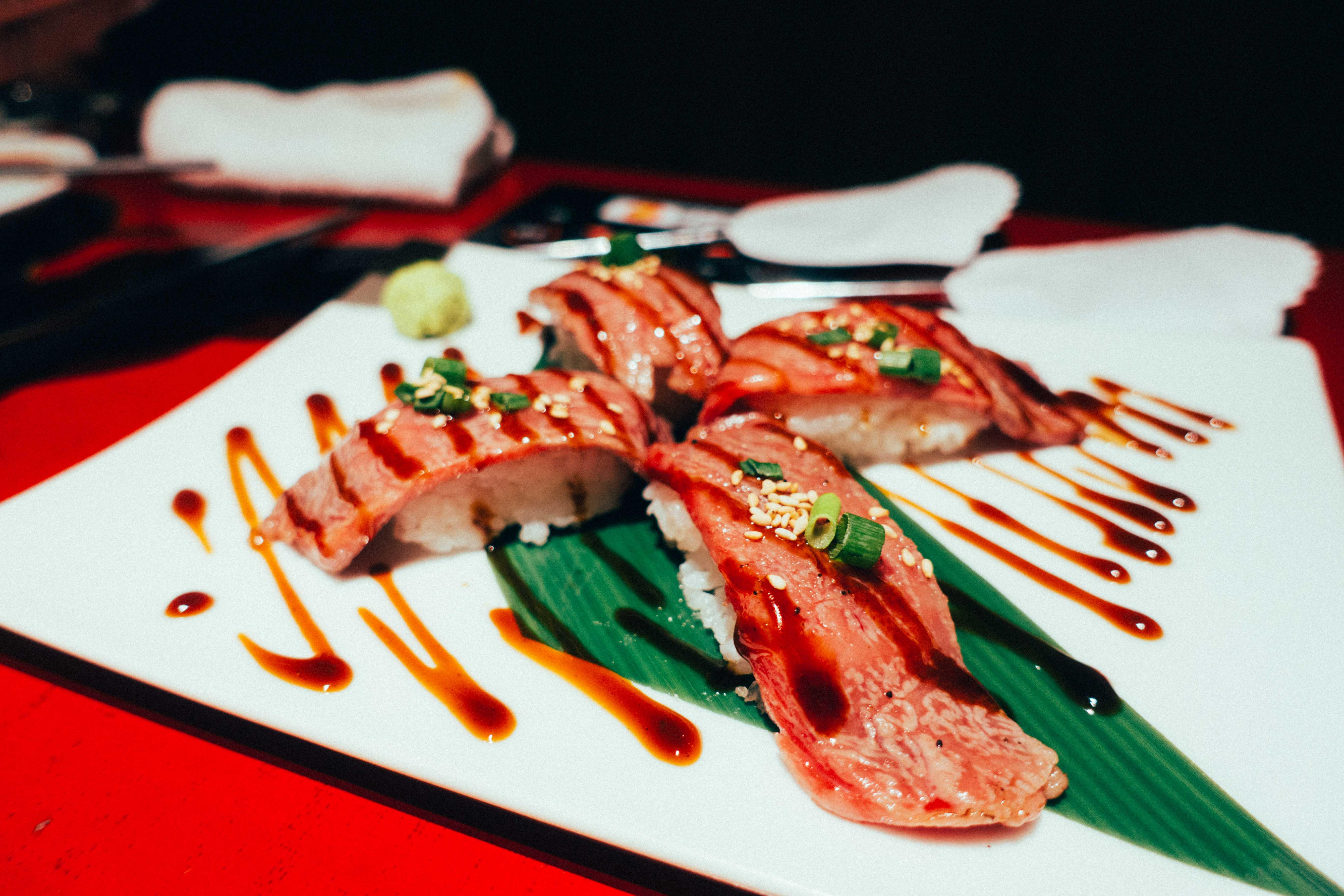 トラジ肉寿司