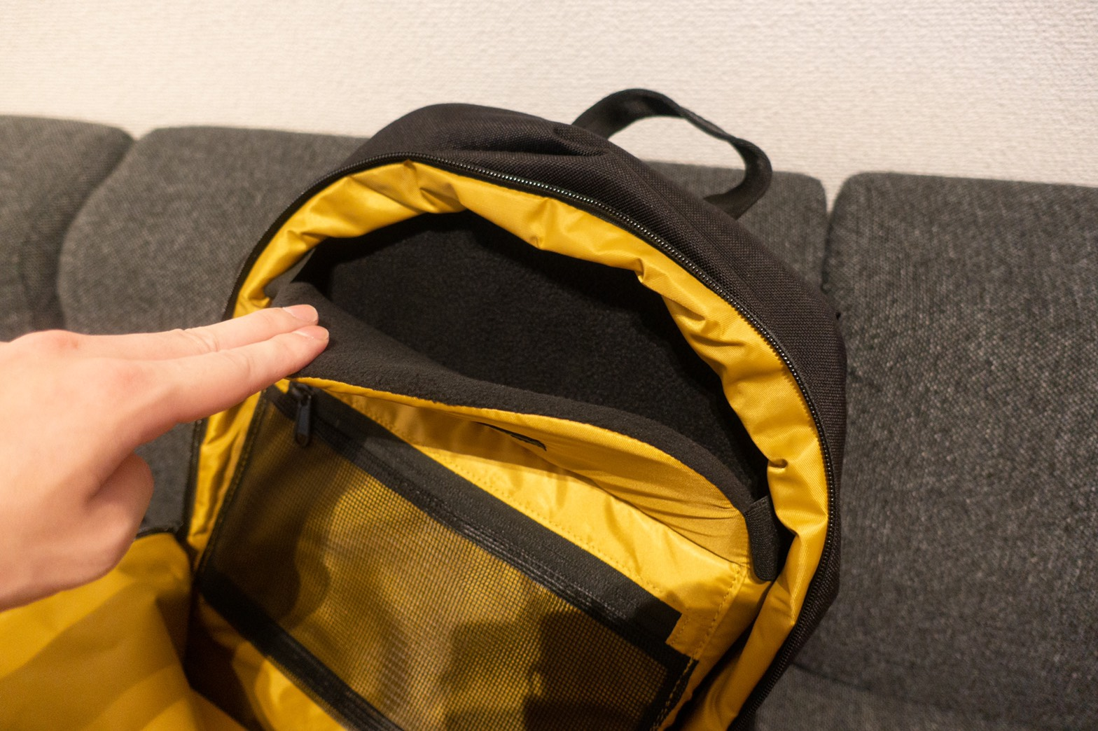 STEM BACKPACK CORDURA COATED BLACKパソコンスリーブ
