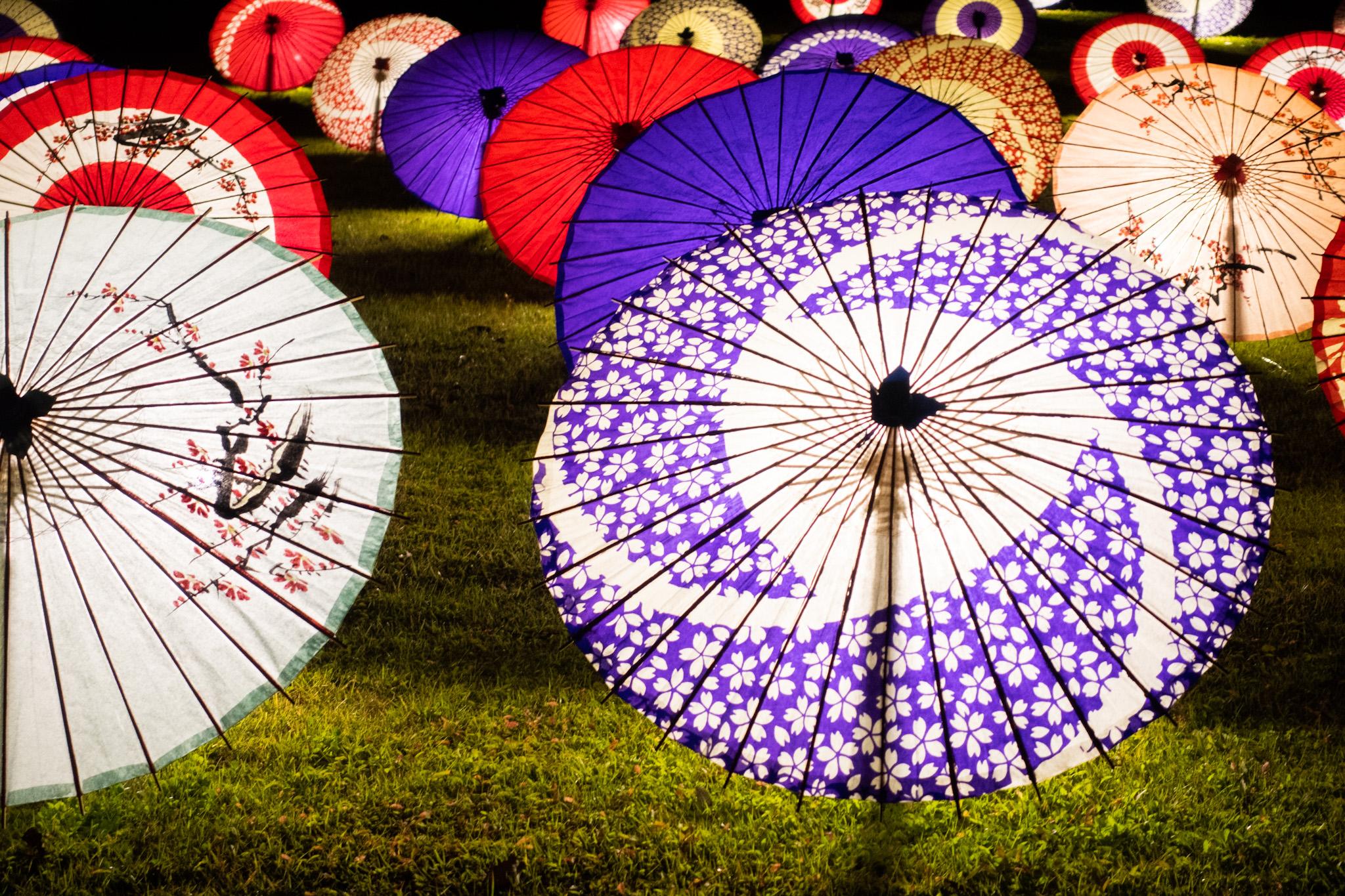 傘のライトアップ