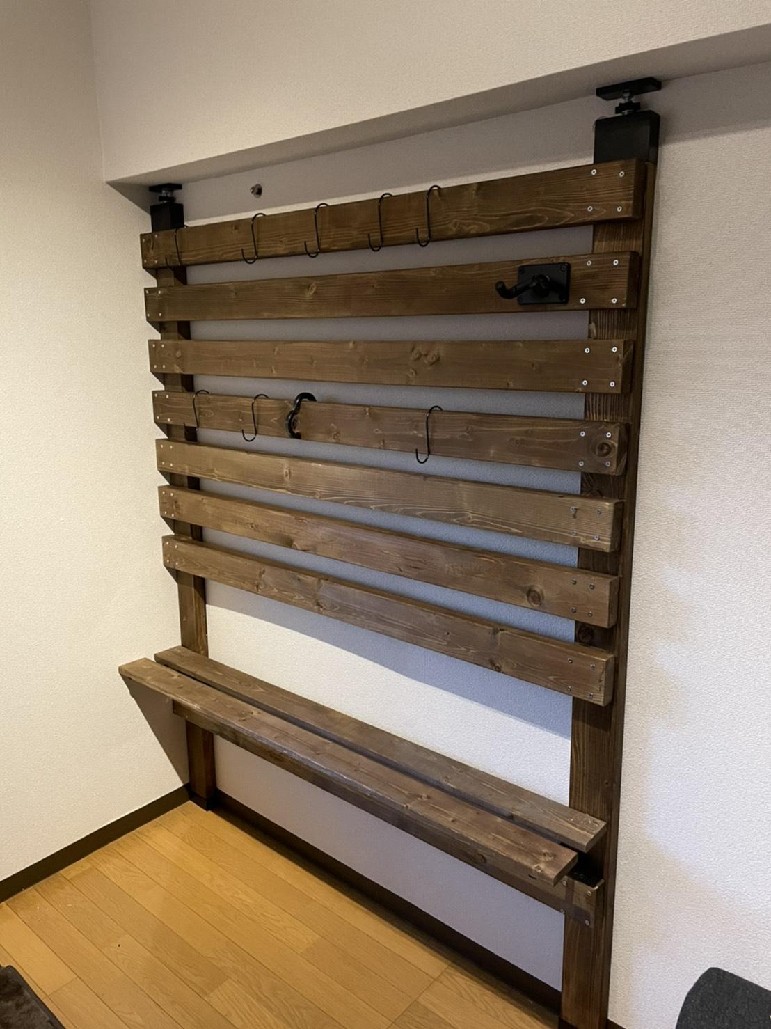 木の壁DIY完成