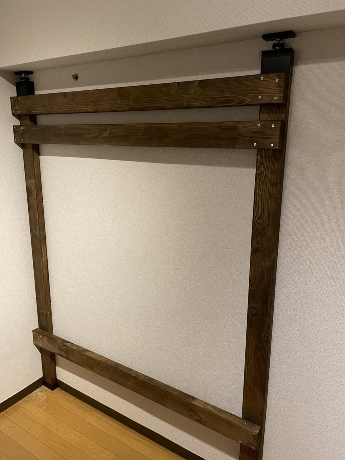 木の壁DIY途中経過