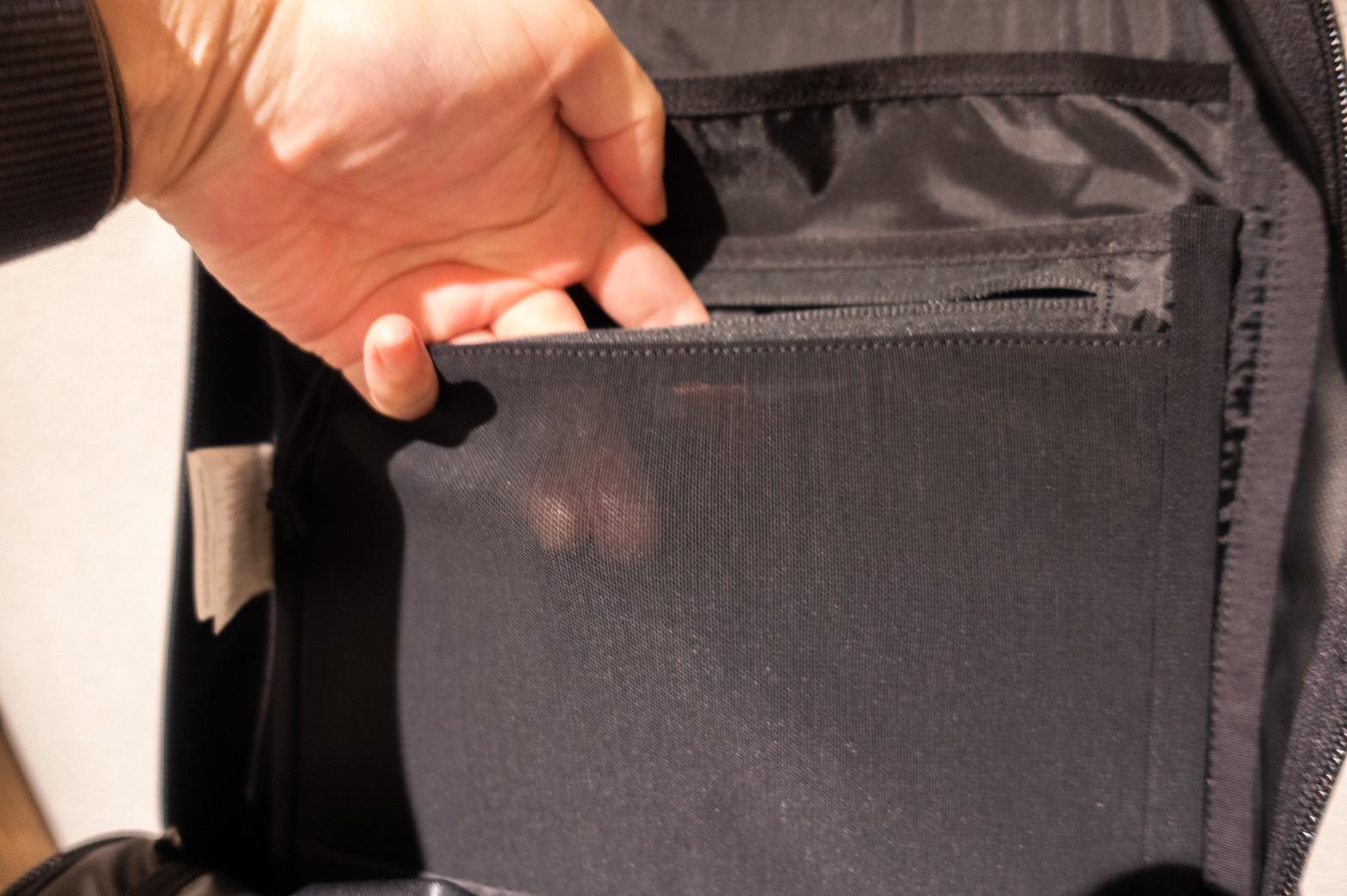 アークテリクスアロー22メイン収納ポケット